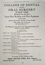 1917 Columbia University College of Dental and Oral Surgery Art Print Ad