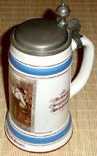 0,7l Bierkrug mit Zinndeckel BRAUEREI DINKELACKER STUTTGART- Hopfenernte um 1900