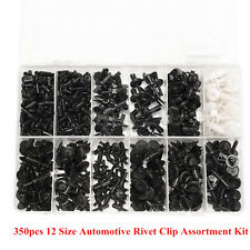 350pcs 12 Size Plastic Car SUV Interior Push Pin Rivet Trim Clip Assortment Kit
