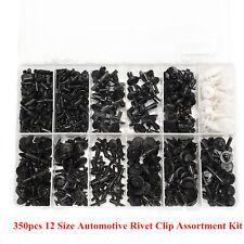 350pcs 12 Size Plastic Car SUV Interior Push Pin Rivet Trim Clip Assortment Kit