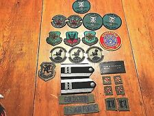 Vintage Lot of 20 Air Force Insignia Patches From Retired Major