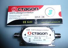 SAT Leitungsverstärker Inlineverstärker 20  dB Octagon OSV 28 - Lagerauflösung !