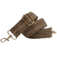 BENAVA Taschengurt Schulterriemen Braun Beige Karo Verstellbar Baumwolle 40mm