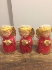 Three Vintage Christmas Angel Candles Robert Alan Candle Company