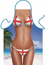 Novelty apron ST GEORGE FLAG UK ENGLAND APRON Bikini - great gift idea
