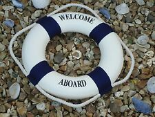 Lifebuoy Welcome Aboard Blue /Ship Boat Wheel- maritime Bathroom Life Ring Sm