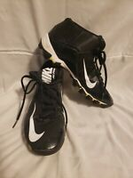 Nike Alpha Black White 4.5 Youth Soccer Cleats Shoes Mid Top Yellow Boys Lace Up