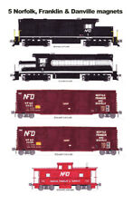 Norfolk, Franklin & Danville locomotives and train 5 magnets Andy Fletcher