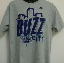 Charlotte Hornets NBA adidas Buzz City Go To Tee Shirt Size XL Free Shipping