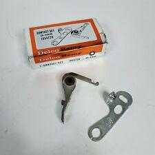 36-38 Chevy Contact Points & Condenser Set Delco D-100 GM 1855720 NOS