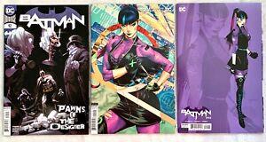 Lot (3) BATMAN #92 A + V + 1:25 (1ST) PUNCHLINE COVER VARIANT DC COMICS 2021