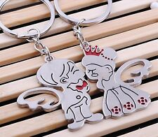 Couples Keyfob Prince Princess Angel Wings Key Chain Celestial Alloy Keyrings