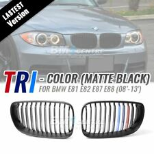Matte Black M Tri Color Front Grille for BMW 1 Series E81 E87 E82 E88 2008-2013