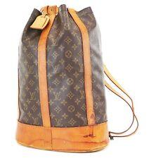 Authentic LOUIS VUITTON Randonnee GM Monogram Backpack Shoulder Bag #36834