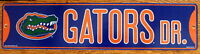 Street Sign Gators Dr. NCAA Lic College.colorful picture University of Florida