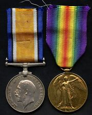 WW1 Great Britain 1914-18 Medal & Victory Medal (1855 PTE. W.J.CLULOW. R.A.M.C.)