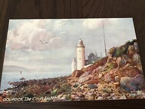 TUCK Oilette BONNIE SCOTLAND SERIES The Lighthouse GOUROCK  1900s POSTCARD 14/10