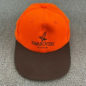 Swarovski Optik Hat Strapback Cap Orange Scope Sight Binoculars Hunting VTG