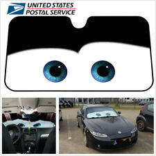 Cartoon Eye Car Windshield Sunshade Reflective Car Front Window Sun Shade Black
