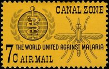 Canal Zone - 1962 - 7 Cents Malaria Eradication Mosquito Issue # C33 Mint F-VF +