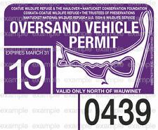 Nantucket Oversand Vehicle Permit Sticker Decal 2019 ACK Beach Permit