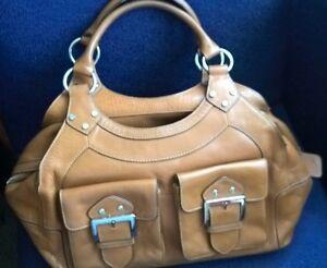 KAREN MILLEN Brown Leather Handbag