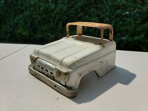 1961 Tonka Pick Up Truck Cab ONLY. White.  Has Grill and Bumper