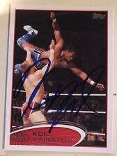 Kofi Kingston Signed WWE Topps 2012 Card New Day