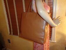 NWT MIU MIU PRADA  R1914S Vitello Soft LT. BROWN Leather Shopper TOTE  DUSTBAG