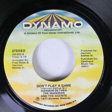 Soul 45 Harmon Bethea The Maskman And The Agents - Don'T Play A Game / That'S Yo