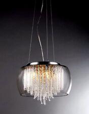 'Chandelier Odysseus' Chrome and Crystal 5-light Ceiling Fixture Pendant MODERN