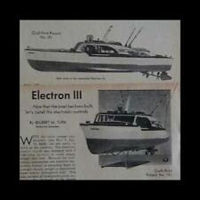 """29"""" Owens Cabin Cruiser Electron III 1951 How-To build PLANS"""