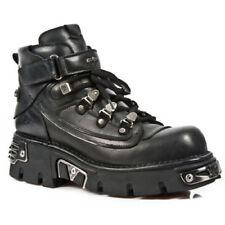 Zapatos de vestir de hombre negras New Rock de piel