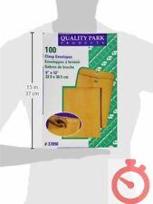 New Listing100 Business Envelopes 9x12 Kraft Clasp Manila Catalog Yellow Brown Flap 100pcs
