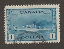 Canada 1942 #262  - Tribal Class Destroyer, RCN - F Used