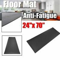 """24"""" x 70"""" Anti Fatigue Floor Mat Foam Gel Kitchen Rug Office Standing Mat Black"""