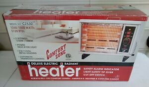 Comfort Zone Deluxe Electric Radiant Space Heater ~ Model CZ530 ~ New in Box  MG