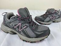 New Balance 411 Women WT411GP2 Gray Pink All Terrain Running Trail Shoes Size 7B