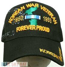 KOREAN KOREA WAR SERVICE ERA VET VETERAN RIBBON 1950-1953 FOREVER PROUD CAP HAT