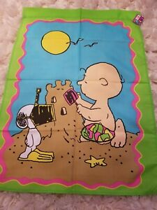 New vintage snoopy charlie brown beach outdoor large decorative flag