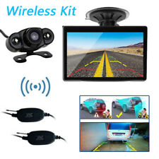 """5"""" TFT LCD Car RearView Backup Mirror Monitor+Wireless Reverse Camera System Kit"""