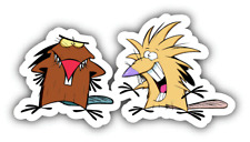 2 Angry Beavers Cartoon Car Bumper Sticker Decal 5'' x 3''