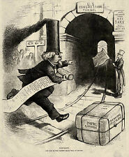 MARSHALL JEWEL POST MASTER GENERAL Fast Mail Railway, Post Haste T Nast Cartoon