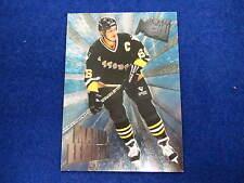 1995 96   Mario Lemieux heavy metal  hockey card  Penguins  # 9
