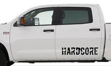2 x Hardcore (Frans) - Heckscheibenaufkleber - weiss oder schwarz