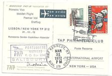 1972  PORTUGAL BOEING 747-B FIRST FLIGHT PPC TO JFK NEW YORK - CACHETS 31 MARCH