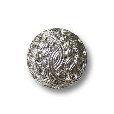 5 kleine silberfb. Ösen Knöpfe in Metall Optik mit Ornament Muster (1230si-13)