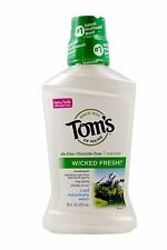 Tom's of Maine Wicked Fresh! Mouthwash Cool Mountain Mint 16 oz (Pack of 4)
