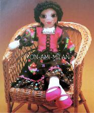 "Rag Doll Sewing Pattern Photocopy To Make a Cute 27.5"" Gypsy Dolly Soft Toy"