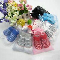 Newborn Baby Girls Boys Anti-slip Sock Shoes Infant Cotton Floor Sole Socks New